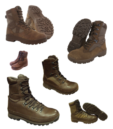 Brown Combat Boots - Grade 1 - Pack of 10