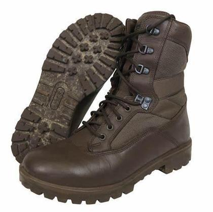 YDS Brown Leather Combat Boots - Grade 1 - Pack 10